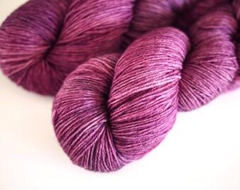 Pansy:merino-nylon sock hand dyed yarn