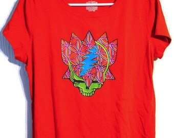 Grateful Dead T-Shirt Steal Your Trip Size Large Women's Clothing