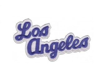 Los Angeles Patch - Blue and White - LA Dodgers colors