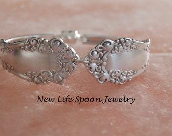 """Spoon Bracelet"""" Berkshire"""""""" Silverware Bracelet Flatware Jewelry Wedding Gift Handmade Fork Jewelry Spoon Jewelry Silver Jewelry-288"""