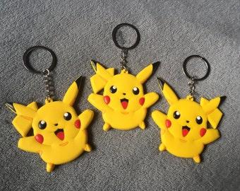 One Pokemon Pikachu Keyring