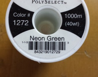 Hemingworth 1272 Neon Green Machine Embroidery Thread
