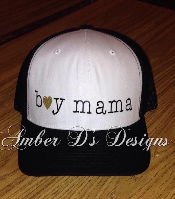 Boy Mama Trucker Hat By Amberdsdesigns On Etsy