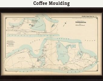 East Hampton, Montauk Map, 1916