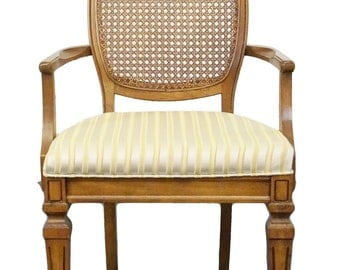 BERNHARDT Country French Cane Back Dining Arm Chair 111-512