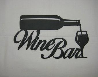 Metal Wine Bar Wall Sign