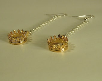 Crowns - Princess - Gold - Silver earrings