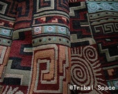 Aztec Fabric Native Fabric Tribal Fabric Ethnic Fabric BOHO Bohemian Style Tablecloth Fabric Hand Woven fabric - half (1/2) yard (BHI_015)
