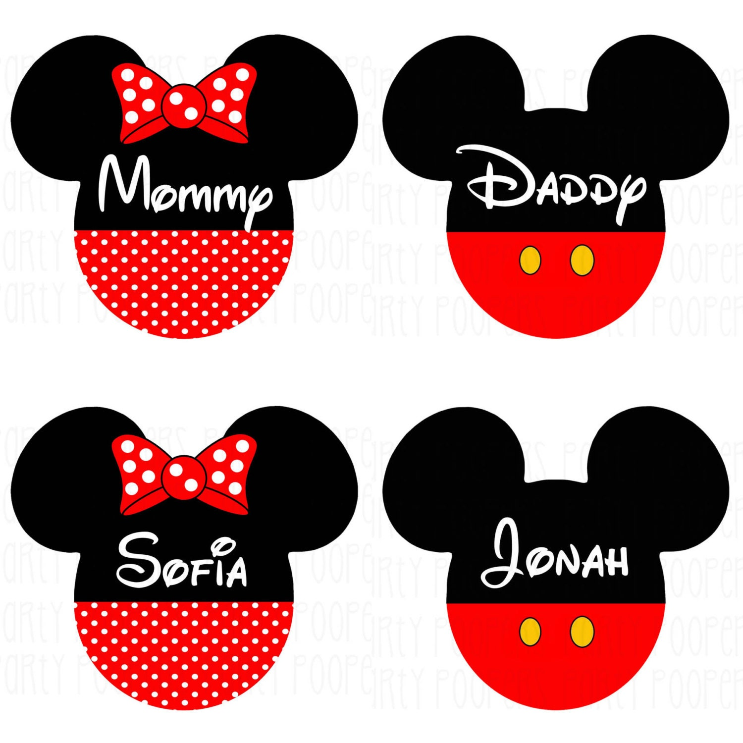 Design t shirt transfer template - Personalized Disney Family Shirts Iron On Transfers Mickey Mouse And Minnie Mouse