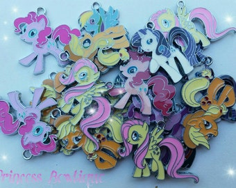 My Little Pony & Peppa Pig Charms.