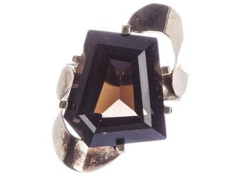 Handmade 10 kt Gold Smoky Quartz Ring