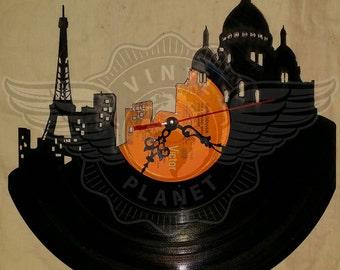 Vinyl Wall Clock PARIS