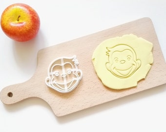 Curious George Cookie Cutter / Made From Biodegradable Material / Brand New / Party Favor Kids Birthday Baby Shower Cake Topper