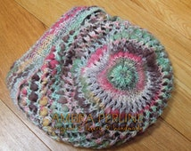 """Free Shipping Hand Knitted hat """"First Grass"""", made from amazing Yarn named Katia Bolivia (from Spain)"""