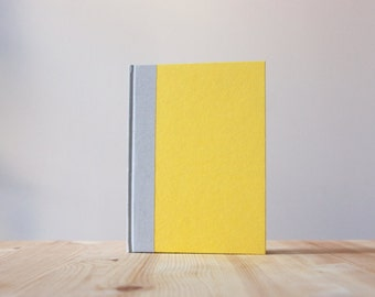 Yellow and Grey Hardcover Notebook | Journal | Sketchbook