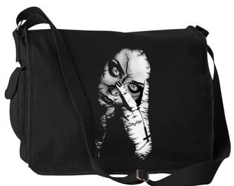 "Gothic ""Abyss-mal Girl"" Canvas Laptop Bag Messenger Bag"