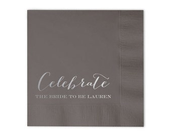 Celebrate the Bride to Be  Personalized Bridal Shower Napkins