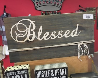 Blessed Block Sign