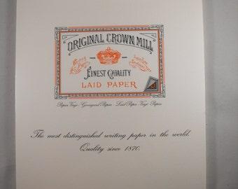 Original Crown Mill Paper Pad of 50 Sheets