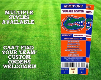 Florida Gators Invitation
