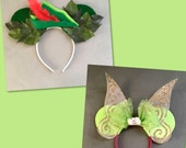 Tinkerbell / Peter Pan Couple Mouse Ears