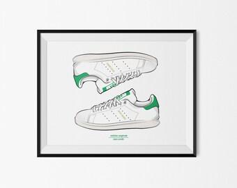 Adidas Stan Smith (Green) -  print / poster