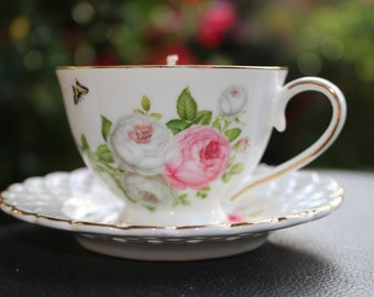 Butterfly & Lace Teacup Candle