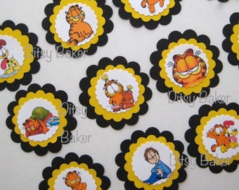 Garfield Cupcake Toppers - set of 12