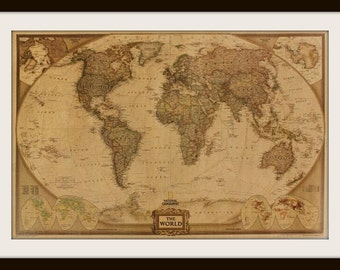 The World Vintage Poster / Wall Decor / World Map