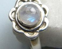 moonstone ring,moonstone silver ring,Sterling Silver Toe Rings, Rainbow Moonstone Toe Ring, Silver Toe Ring ,  Toe Ring, Moonstone foot ring