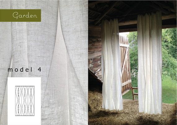 Natural Linen Curtains Handmade White Modern By GARDENlinen