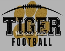 Tiger Football Paw Print  Design Pattern Graphic Design Instant Download EPS SVG DXF  Cutting Files Cameo