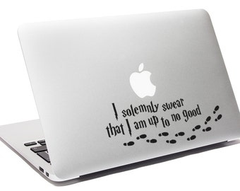 Harry Potter decal I Solemnly Swear That I Am Up To No Good decal Harry Potter Macbook Decal Hogwarts sticker Mischief managed decal