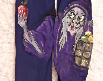 Snow white witch Leggings, Evil Queen tights, Colorful Tights, Poisoned Apple