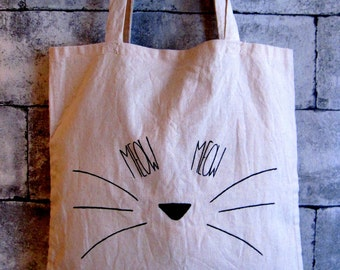 "Tote bag ""MEOW"""