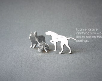 ENGLISH POINTER NAME Earring - English Pointer Name Earrings - Personalised Earrings - Dog Breed Earrings - Dog Earring