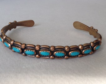 Copper and Turquoise Southwestern Cuff Bracelet