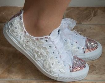chaussures de mariage converse bridal L'excale