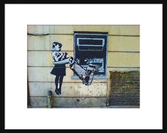 ATM Robot Arm - Banksy - Graffiti Art - Street art – Print - Poster