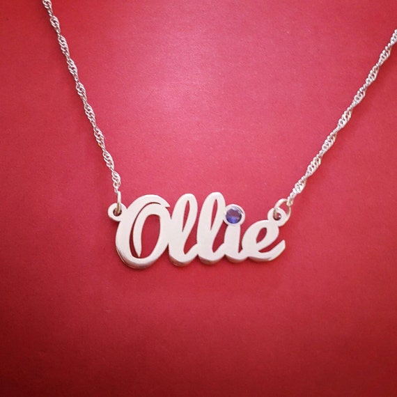 The Gift Name Necklace Name Locket Design Name Chain Designs