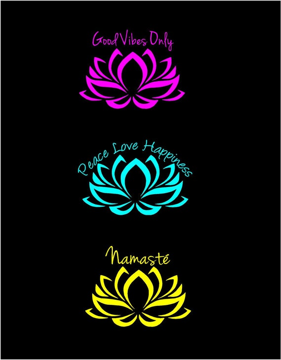 Lotus Flower Decal Good Vibes Decal Namaste Decal Peace Love - Flower custom vinyl decals for car