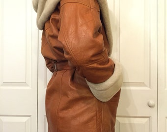 Vintage Wilson's Leather and Faux Fur Coat