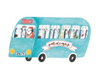 Sardine Bus - Toastie Collection Art Print