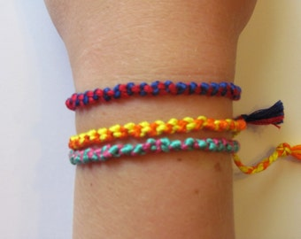 Knotted Embroidery Floss Bracelet