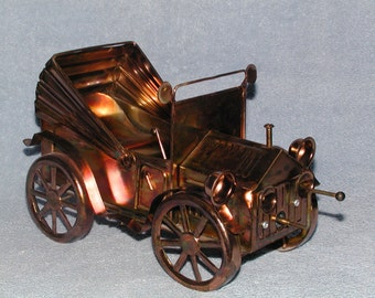 Music Box - Metal Art - Copper Convertible Car