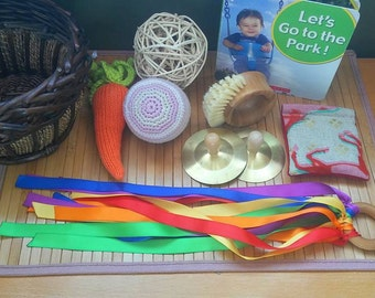 Montessori Inspired Five Senses Basket, Toddler, Preschool,
