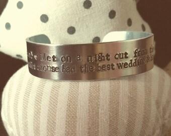 personalised my life handstamped bracelet