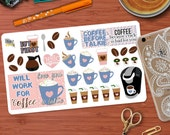 Coffee Quotes and Decorative Sticker Kit for your Erin Condren Life Planner