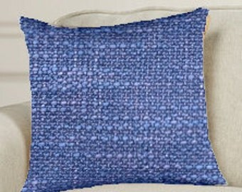 "Decorative Pillow Cover 20"" X 20""  with Zipper Periwinkle"