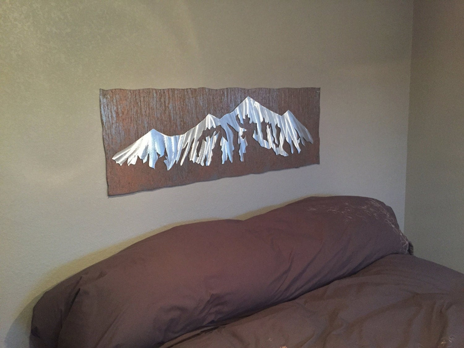 Mountain Artwork For Your Bedroom Bed Headboard Metal Wall